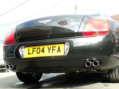 "<span class=""light"">Continental</span> GT – Le Mans Quicksilver Quad Outlet Exhaust System."