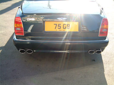 "<span class=""light"">Azure</span> Le Mans Quad Outlet exhaust."